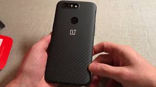 Official OnePlus 5T Bumper Case Karbon Unboxing and Review