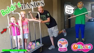 Baldi's Basics in Real Life! Orbeez Wowzer Surprise Toy Scavenger Hunt at Hotel!
