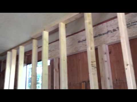 How to install a beam into a load bearing wall