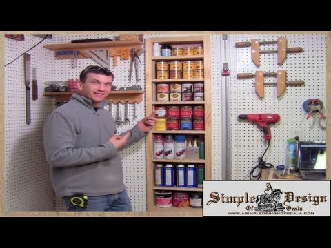 Shop Organization - Make a Recessed Shelf Unit