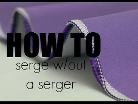 Tips & Tricks: Serge w/out a Serger + Large Spools on a Regular Machine