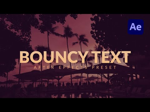 Bouncy Text Characters Animation in After Effects & Premiere Pro Tutorial