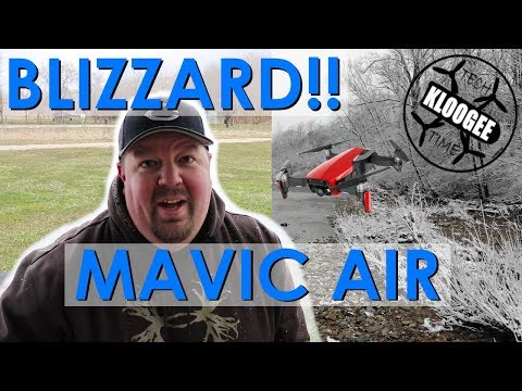 Flying in a Blizzard - DJI Mavic Air