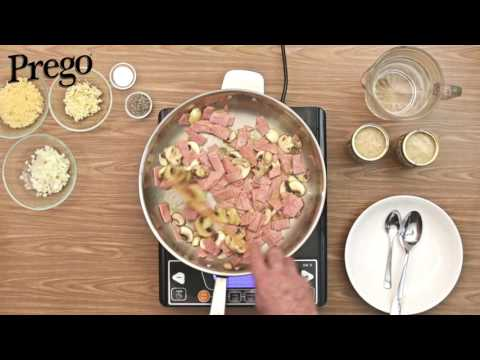 Prego Spaghetti Alfredo Mushrooms - 60secs Video Tutorial