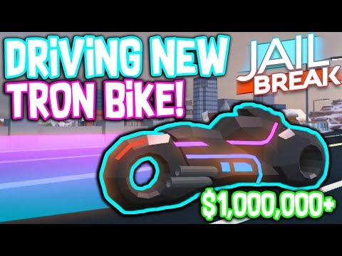 DRIVING THE TRON BIKE IN ROBLOX JAILBREAK!!! *EXCLUSIVE SOUNDS*