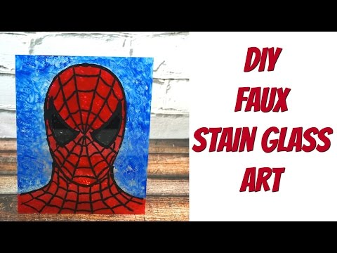 DIY Faux Stain Glass Art | Nerdy Crafts Ep. 42