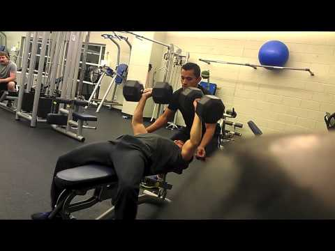 100 pound Dumbell Bench Press Fail! (Weighing in at 130)