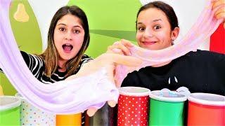 Download Ayşe ve Asu Ela slime yapma challenge. Eğlenceli Video