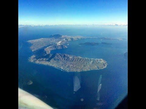 Flight to Santorini (Full Flight) [HD] 1080p