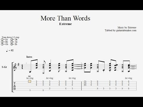 More Than Words TAB - acoustic guitar tab - PDF - Guitar Pro