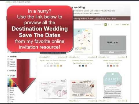 Destination Wedding Save The Dates - My Favorite Online Designs