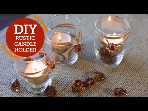 Rustic Candle Holder DIY Decorations | BalsaCircle.com