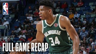 BUCKS vs PELICANS | Giannis Antetokounmpo Leads All Scorers With 24 Points | March 12, 2019