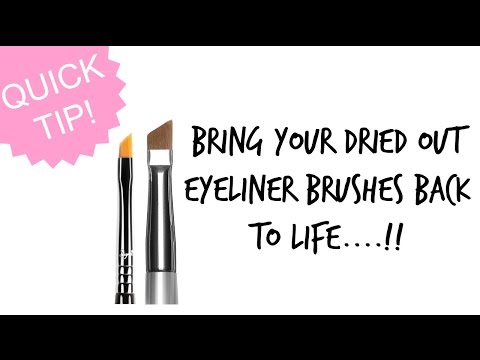 MAKE YOUR DRIED EYELINER BRUSHES SOFT & SMOOTH AGAIN!!      |SolutionsRoom|