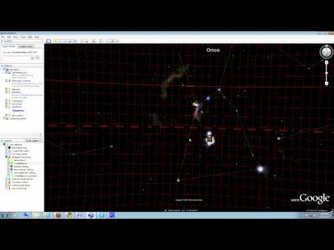 Google Earth for astronomy. Sky map and Celestial Coordinates.