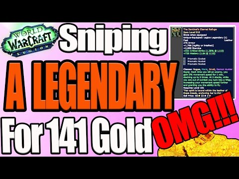 SNIPING A LEGENDARY FOR 141 GOLD OUT OF THE AUCTION HOUSE!  Hilarious Reaction!