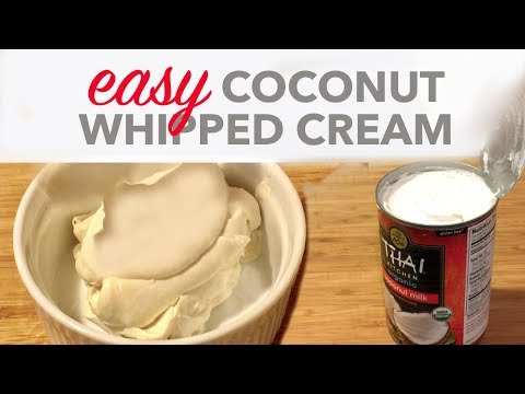 How to Make Coconut Whipped Cream | Easy & Low Sugar | Be Deliciously Healthy