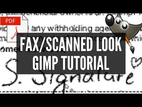 Make PDF look SCANNED | FAKE FAX | FREE GIMP TUTORIAL