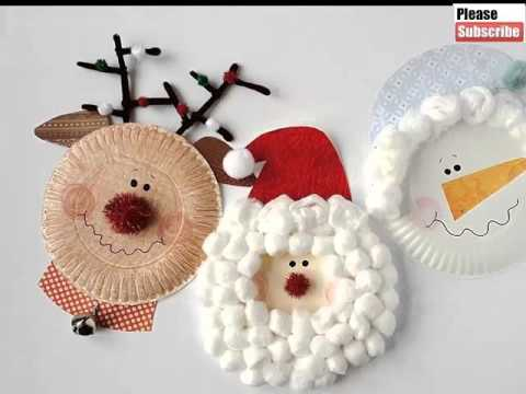 Christmas Paper Plate Crafts For Kids | Beautiful Handmade Set Of Diy Picture Collections & Ideas