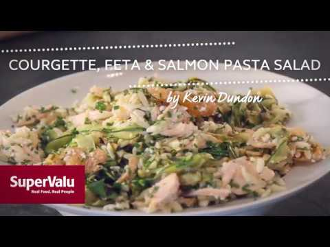Courgette, Feta and Salmon Pasta Salad
