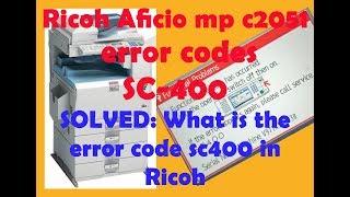 Error SC 551 Fix with in 10 Second Ricoh MP 1500, MP2000, MP1600