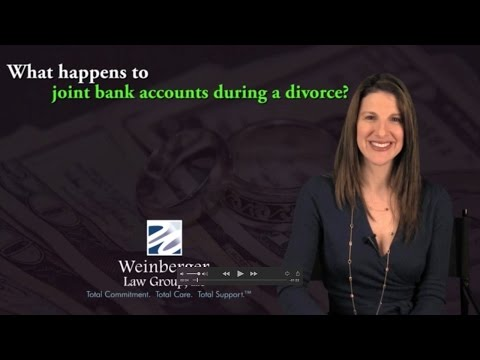 FAQ What happens to joint bank accounts during a divorce?