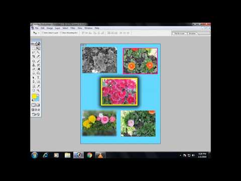 how to make collage in photoshop  hindi