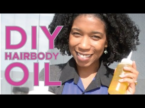 DIY Homemade Hair and Body Oil | Nutrient Packed