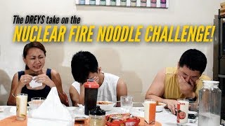 The DREYS take on the NUCLEAR FIRE NOODLE CHALLENGE!