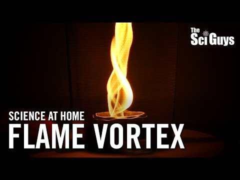 The Sci Guys: Science at Home - SE2 - EP6: Flame Vortex - Fire Tornado