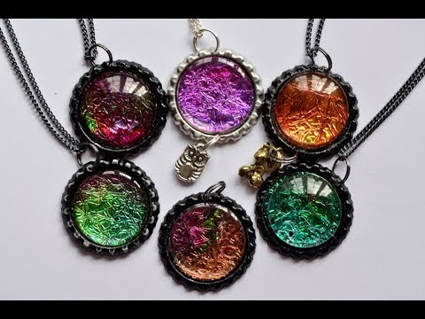 How To Make Alcohol Ink Pendants - Brand New!