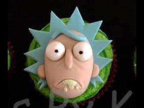 Rick Sanchez Cupcake Topper (Time Lapse)