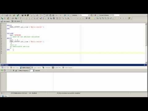 PL/SQL Oracle tutorial, Oracle introduction, PL/SQL basics