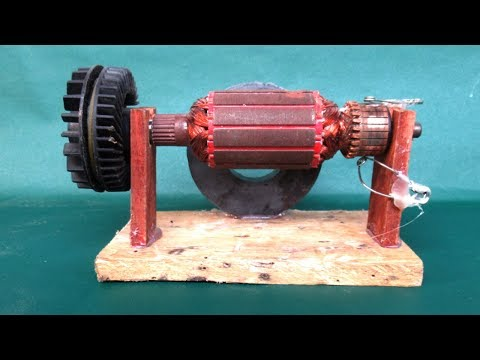 How to make DC motor 2000 rpm with magnets - Science experiments projects at school