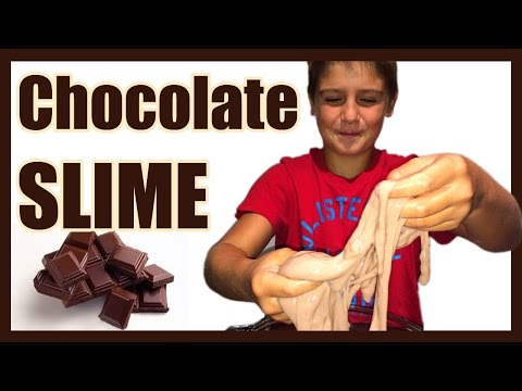 How to Make CHOCOLATE SLIME Easy Kids Science Experiments