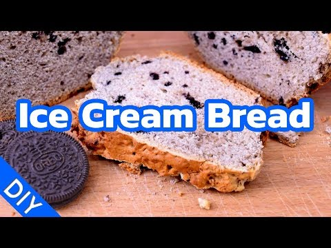 Ice Cream Bread made of Oreo and Vanilla Ice Cream - Recipe / DIY Tutorial