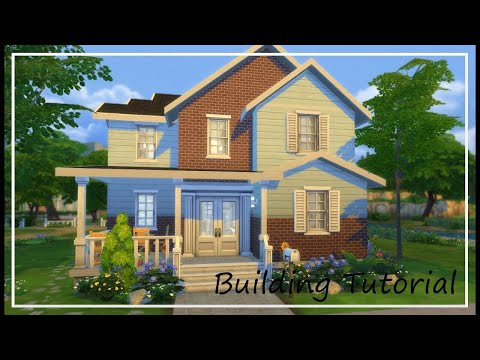 Building Tutorial Pt. 1 - Exterior, Floor plans and Roofing // The Sims 4 Build Series