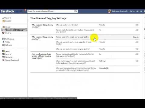 FB tag settings