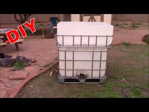 DIY IBC FISH TANK OR AQUAPONIC SYSTEM