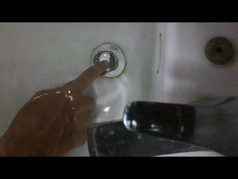 How to fix stuck pop up drain