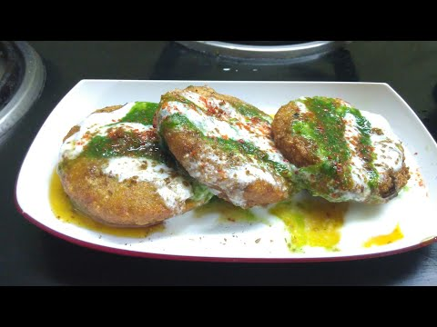 Aloo tikki chaat masala,Aloo Tikki Recip in hindi by Sunita's kitchen,