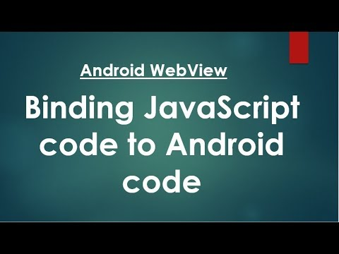Android WebView - Binding JavaScript code to Android code