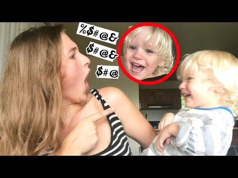 MY 2 YEAR OLD WON'T STOP SWEARING?!