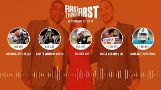 First Things First Audio podcast (9.17.19)Cris Carter, Nick Wright, Jenna Wolfe | FIRST THINGS FIRST