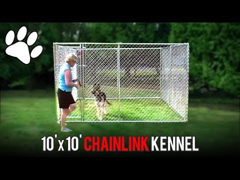 Lucky Dog 10'x10' Chainlink Boxed Kennel Assembly