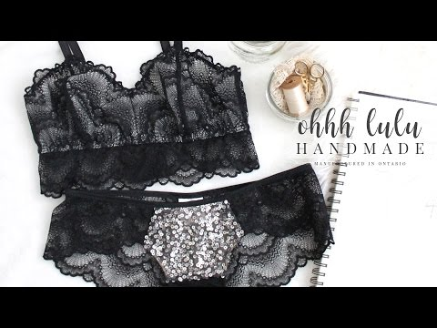 How to cut the Jasmine Bra out of Scalloped Lace