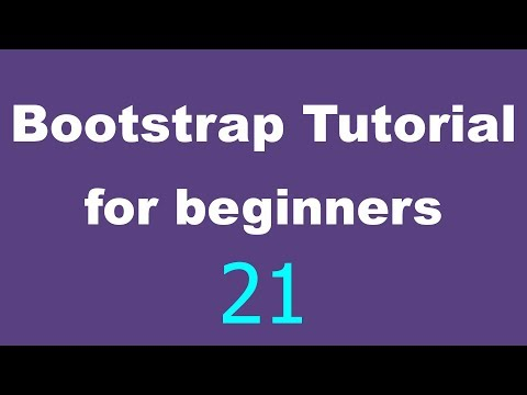 Bootstrap Tutorial for Beginners - 21 - Glyphicons