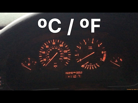 How To Easily Change Your BMW Temperature Reading From ºC to ºF or ºF to ºC. No Tools Needed!