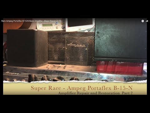 Rare Ampeg Portaflex B-15-N Bass Amplifier - Major Repair [2/3]