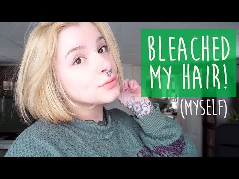 BLEACHING MY HAIR AT HOME!! || (Oh, and cutting it too)